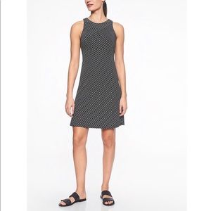 ATHLETA Black White Santorini Mix Striped Dress M